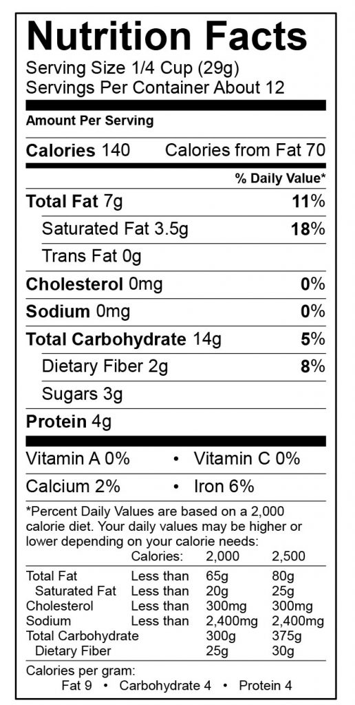 Photo of Nutrition Label Tropic of Ginger by Nana's All Natural Foods