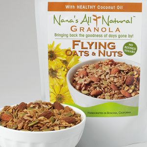 Photo of bag of Grand Flying Oats & Nuts Granola by Nana's All Natural Foods