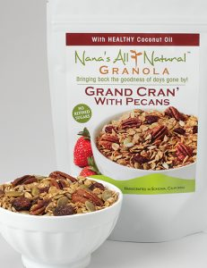 Image of bag of Grand Cran with Pecans Granola by Nana's All Natural Foods