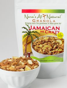 Photo of bag of Jamaican Me Crazy Granola by Nana's All Natural Foods