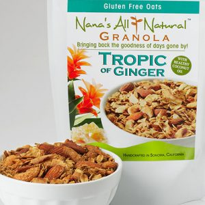 Tropic of Photo of bag of Ginger Granola by Nana's All Natural Granola